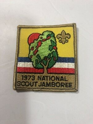 1973 National Scout Jamboree Pocket Patch Boy Scouts BSA VTG Sew Iron On Badge