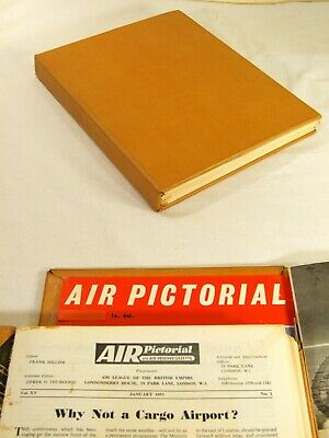 Air Pictorial Magazines. 1953 Complete Year. Bound In A Hand Made Binder