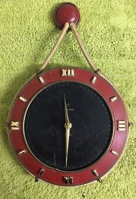Vintage Junghans Exacta Hanging Wind Up Wall Clock