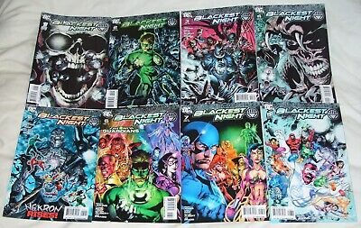 BLACKEST NIGHT #1-8 (COMPLETE SERIES) DC Comics, Green Lantern, Justice League