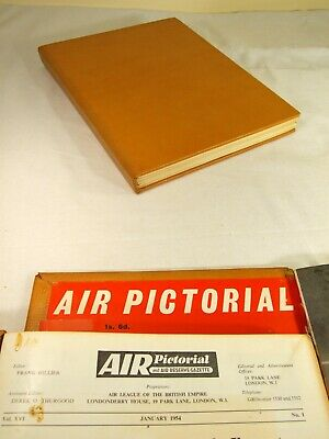 Air Pictorial Magazines. 1954  ~ Complete Year. Bound In A Hand Made Binder
