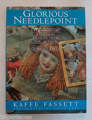 Glorious Needlepoint Extraordinary Stitchery Designs Kaffe Fassett HBDJ 1987 1st