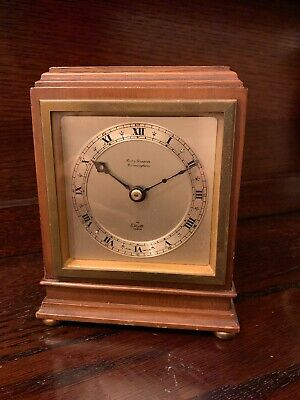 Mahogany Elliot Garrard Mantle clock and original booklet **COLLECTION ONLY***