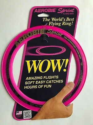 "AUTHENTIC AEROBIE SPRINT 10"" FLYING RING Magenta color Soft Easy catche Fun A10"