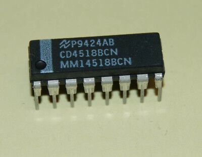 National CD4518BCN CMOS Dual Synchronous Up Counter OM0124Q