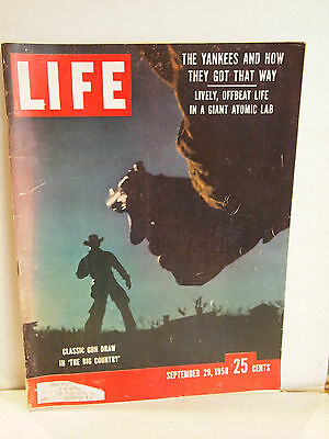 Life Magazine September 29 1958 The Big Country Gregory Peck Charlton Heston