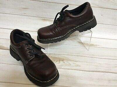 09caabf28 Dr Martens 9369 Mens Brown Leather Oxford Lace Up Casual Dress Shoes Size 12