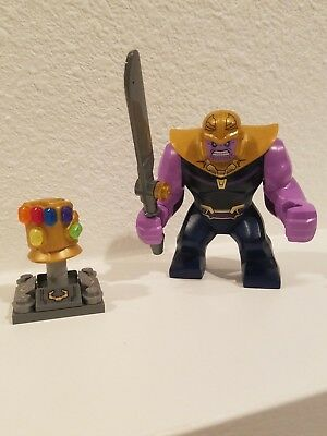 NEW authentic LEGO minifigure Thanos Infinity Gauntlet war marvel sh504 complete