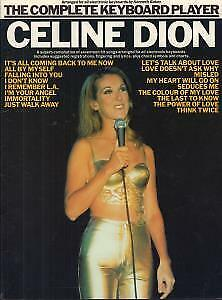 CELINE DION Complete Keyboard Player BOOK UK Wise 1999 42 Page Sheet Music Book