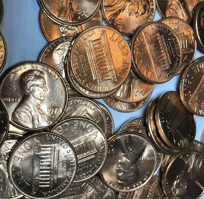 5 Rolls (250) 1974 D Lincoln Memorial Cents BU From Mint Bag