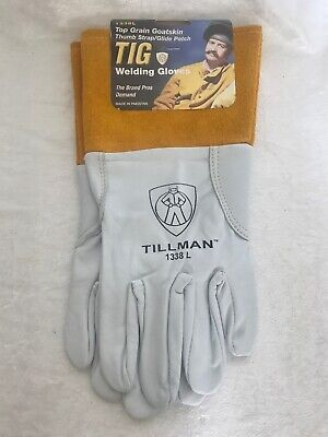 "Tillman 1338 L Top Grain Goatskin TIG Welding Gloves with 4"" Cuff,"