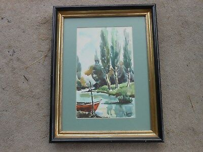 Original Watercolor Painting Signed & Framed