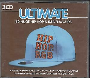 ULTIMATE HIP HOP Varius TRIPLE CD Europe Music Club 2009 60 Track 3 Disc