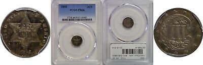 1868 Silver Three Cent Piece PCGS PR-66