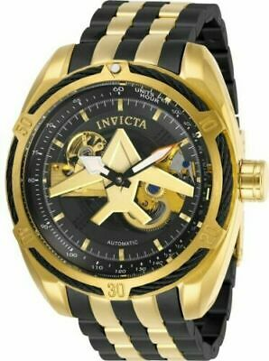 28217 Invicta Men's Aviator Automatic Black and Gold-Tone Stainless Steel Watch