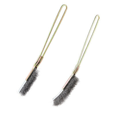 2x Stainless Steel Wire Brushes Rust Paint Remove Elbow&Straight Wire Brush