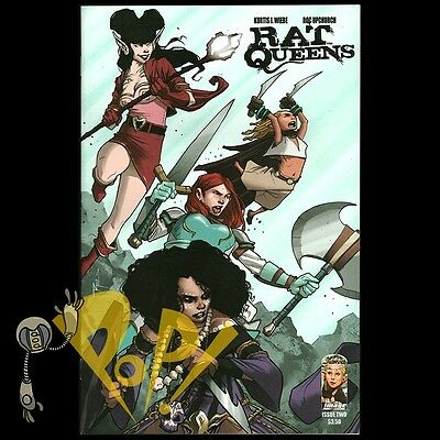 IMAGE COMICS RAT QUEENS vol 1 and 2 lot  Wiebe and Upchurch