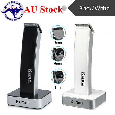 Men's Rechargable Electric Hair Clippers Ceramic Blade Cordless Beard Trimmers