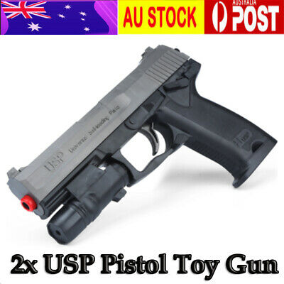 2Pcs HanDi Manual G17/USP Pistol Black/ Yellow Outdoor Gel Ball Blaster Toy AU