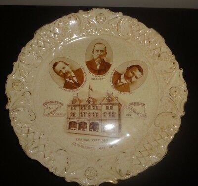 Congleton Co-Operative Society Golden Jubilee Plate 1910  -  CWS