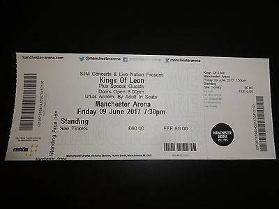 Kings of Leon cancelled Concert Ticket Manchester Arena June 2017
