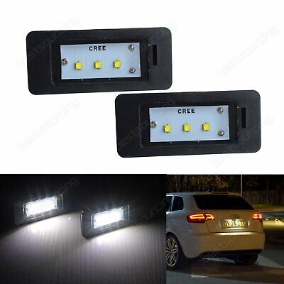 Audi TT Q5 A1 A3 A4 S4 B8 A5 S5 A6 A7 Canbus  LED License Number Plate Light