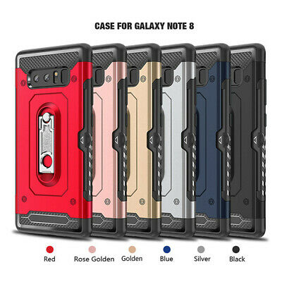 Shockproof Heavy Duty Cover Armor Case Card Slot Kickstand For Samsung Galaxy