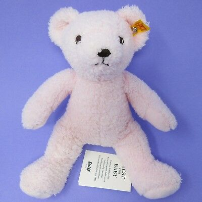 My First Steiff Pink Teddy Bear soft toy plush baby comforter rosa 664717