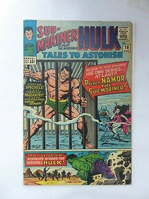 TALES TO ASTONISH #70_AUGUST 1965_VG/FINE_HULK_1st SOLO SUB-MARINER IN TITLE!