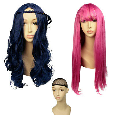 Women Grils Descendants 2  Evie Mal Cosplay Wig Long  Party Wigs Fashion Costume