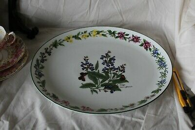 Royal Worcester Herbs Sage Oval Plate 12.75 x 11 inches