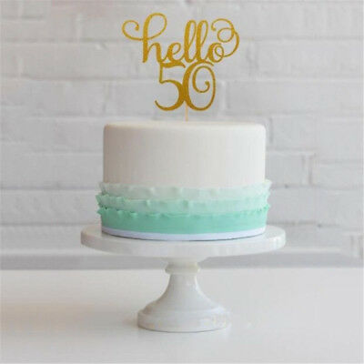Personalised Happy 18th Birthday Glitter Cake Topper Any Age 1162130