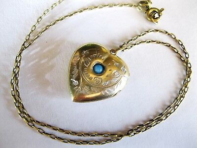 Exclusive Beautiful Vintage Pendant and Chain Soviet Silver 875 USSR Antique!