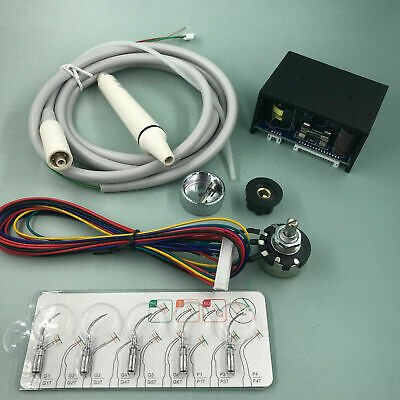 Dental Built-in Ultrasonic Piezo Scaler fit EMS Woodpecker & 1 Handpiece 5 Tips