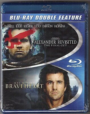 Alexander Revisted & Braveheart Blu-ray 2-Movie Heroic Double Feature BRAND NEW