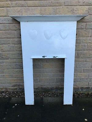 Large Original RARE Arts and Crafts CFA VOYSEY 3 hearts cast iron fireplace