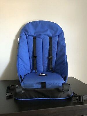 Bugaboo Cameleon Seat Base Unit Canvas Fabric Blue With Straps And Harness