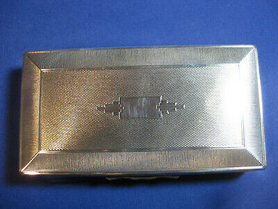 Vintage Art Deco Silver Plated Box By Aristocrat