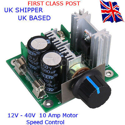 12V - 40V PWM - Motor Speed Controller - 10 Amp - Suit:  All DC MOTORS up to 10A