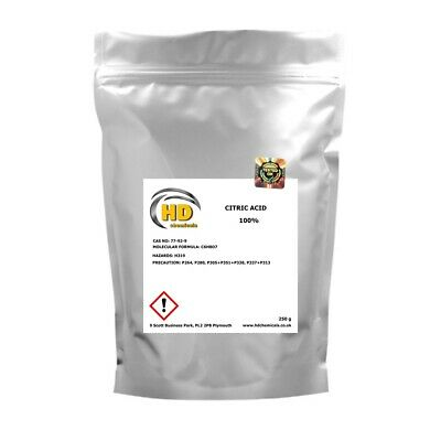 CITRIC ACID 250g - 5kg Food Grade Anhydrous Descaler Bath Bombs Home Brewing