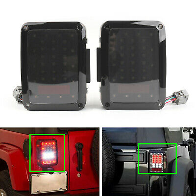 Tail Lights Reverse Backup Rear LED Lamps Fit Jeep Wrangler JK 07-17 US Version
