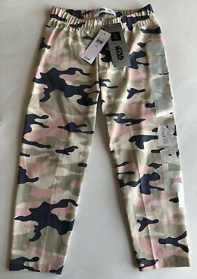 STAR WARS Girls GAP Camouflage Crop Leggings S Small 6 7 NEW NWT Silver