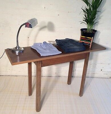 TABLE side hall console vintage 40s 50s 60s military linoleum display shop desk