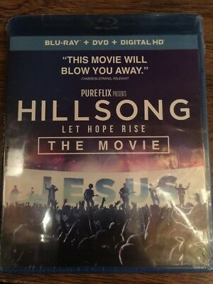 Hillsong - Let Hope Rise Bluray/DVD, 2016, 2-Disc, Includes Digital Code no slip