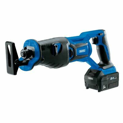 Draper D20 20V Brushless Reciprocating Saw with 3Ah Battery and Fast Charger