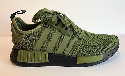 huge discount ae0d0 a0b07 ADIDAS ORIGINALS NMD R1 AQ1246 Olive Green/Black US Europe Exclusive  Colorway