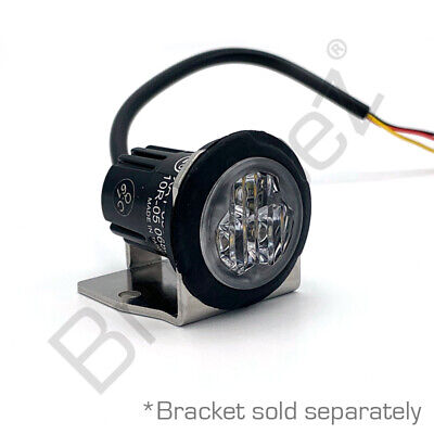 Axixtech UR03, Recess LED, 3 LED, Covert Fend-Off/Grille, RED, 5 Year Warranty