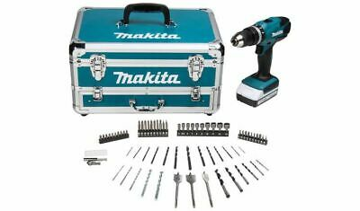 Makita HP457DWX4 18v G-Series Cordless Hammer Drill with 70 Accessories (1.5Ah G