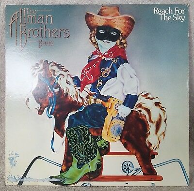 """ALLMAN BROTHERS BAND 1980 Reach For The Sky 12"""" Vinyl 33 LP SOUTHERN ROCK VG+"""