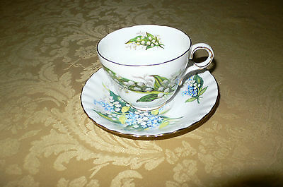 Royal Albert England Bone China Lily of the Valley Teacup & saucer